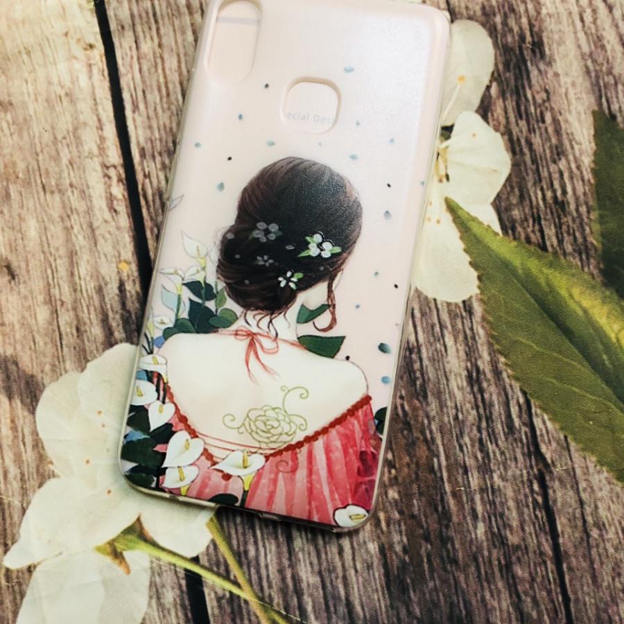 Ốp lưng cho điện thoại Joy 1 plus (Joy1+) in hình kute - Cô gái váy hồng