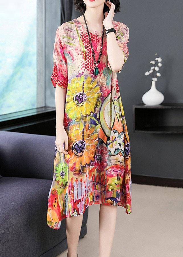 Đầm Suông Họa Tiết Trẻ Trung - gt2045