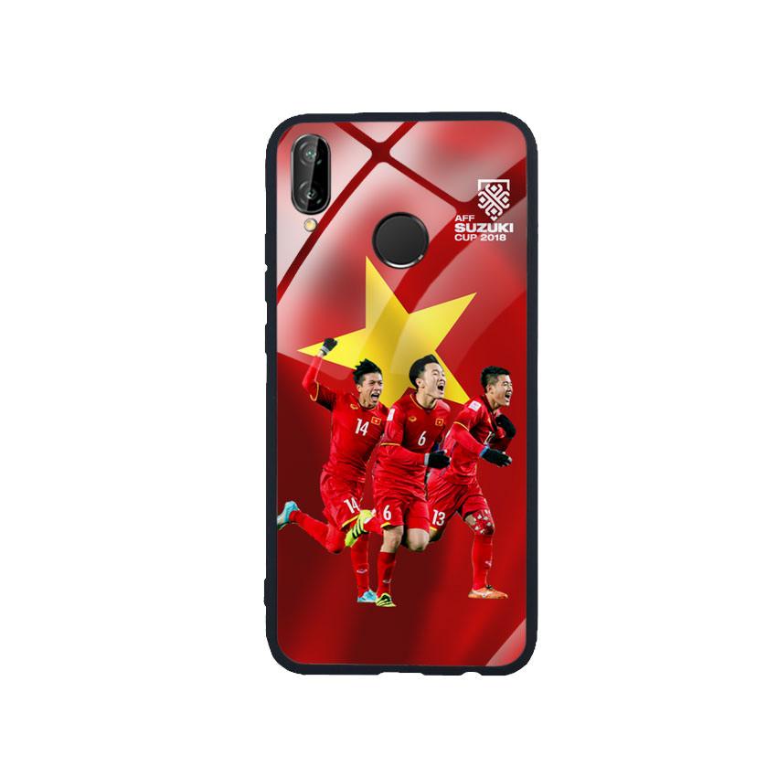 Ốp Lưng Kính Cường Lực cho điện thoại Huawei Nova 3e - AFF Cup 01