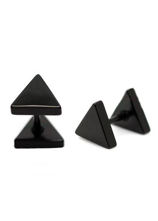Bông tai tam giác BT103 (7mm, Màu Đen)