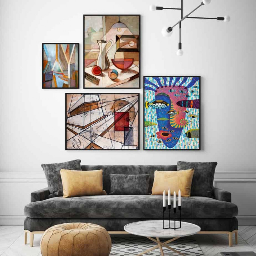Tranh trang trí in Poster ( không khung ) Giao hòa nghệ thuật