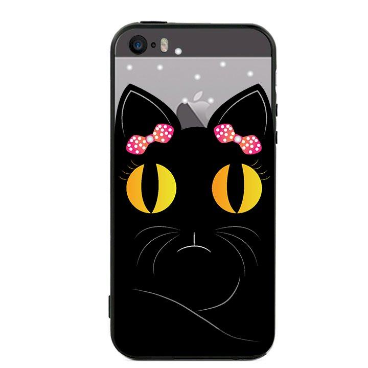 Ốp lưng viền TPU cho Iphone 5 - Mèo Mun 02