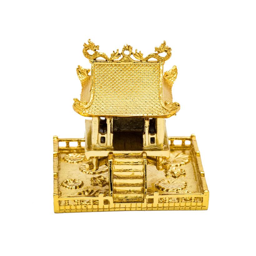 Quà tặng lưu niệm Hà Nội: Chùa một cột mạ vàng 24K (size bé)