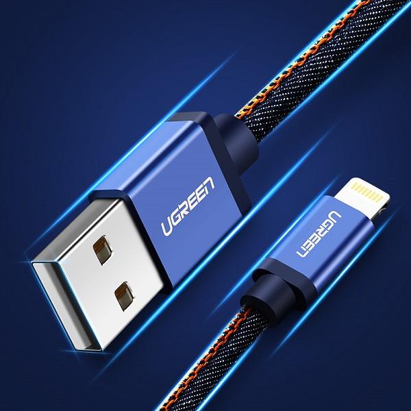 Dây USB 2.0 sang USB Lighting vỏ nhôm bọc vải bò dài 1m UGREEN US247 40340 (xanh lam biển) - Hãng phân phối chính thức - 1376971 , 7467697690380 , 62_11404567 , 299000 , Day-USB-2.0-sang-USB-Lighting-vo-nhom-boc-vai-bo-dai-1m-UGREEN-US247-40340-xanh-lam-bien-Hang-phan-phoi-chinh-thuc-62_11404567 , tiki.vn , Dây USB 2.0 sang USB Lighting vỏ nhôm bọc vải bò dài 1m UGREEN