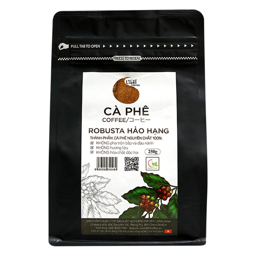 Cà Phê Bột Nguyên Chất 100% Robusta Hảo Hạng Light Coffee RHHB-250 (250g)