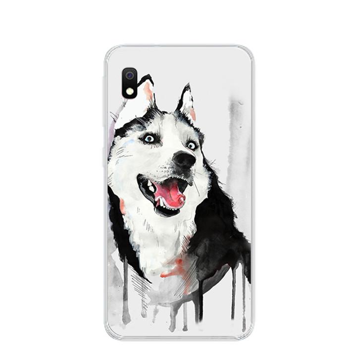 Ốp lưng dẻo cho điện thoại Samsung Galaxy A10 - 0216 HUSKY - Hàng Chính Hãng
