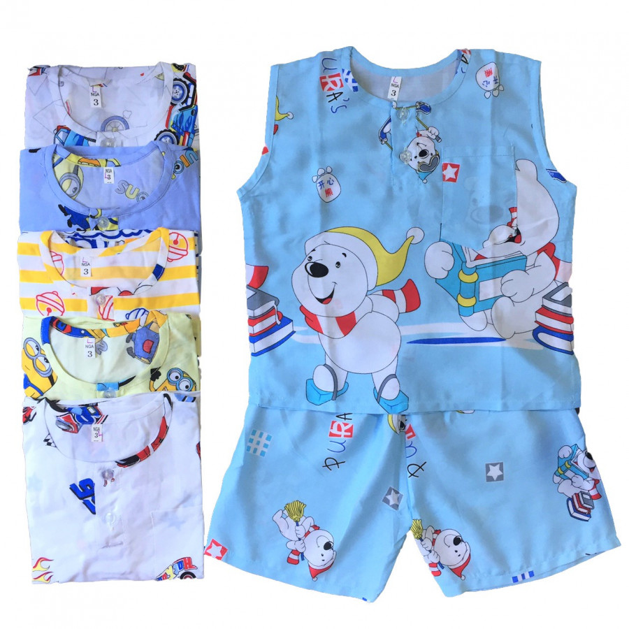 Combo 2 bộ quần áo bé trai BA LỖ vải Tole, lanh mềm, mịn mát mùa hè size từ 5-30kg - 2326633 , 5163407697282 , 62_15013027 , 150000 , Combo-2-bo-quan-ao-be-trai-BA-LO-vai-Tole-lanh-mem-min-mat-mua-he-size-tu-5-30kg-62_15013027 , tiki.vn , Combo 2 bộ quần áo bé trai BA LỖ vải Tole, lanh mềm, mịn mát mùa hè size từ 5-30kg