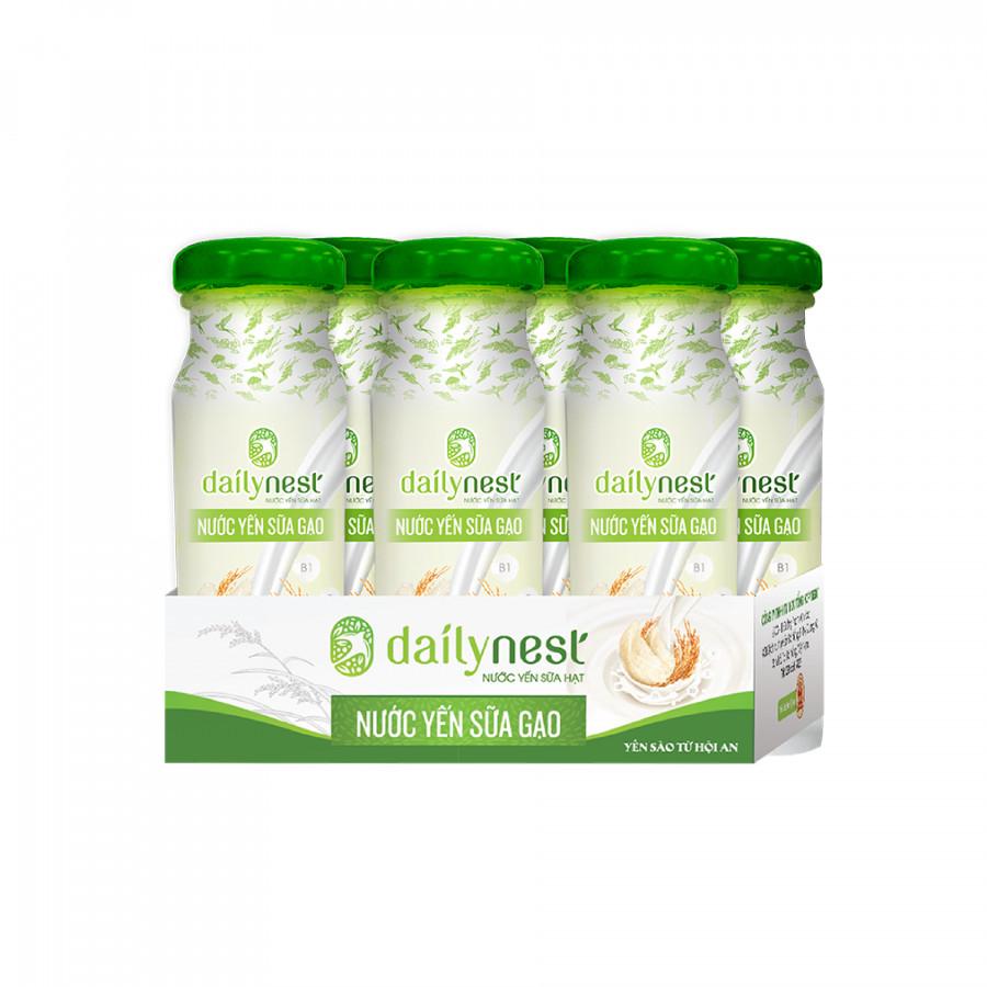 Lốc Nước Yến Sữa Gạo Dailynest (6 chai x 120ml)