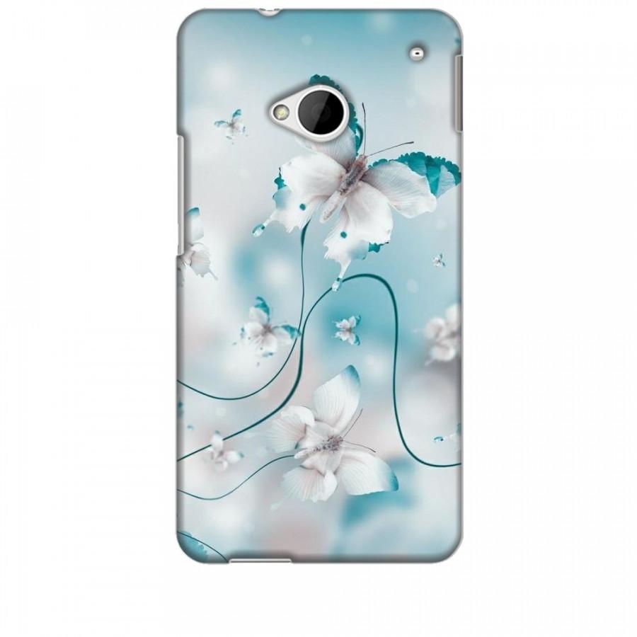 Ốp lưng dành cho điện thoại HTC M7 Cánh Bướm Xanh Mẫu 1