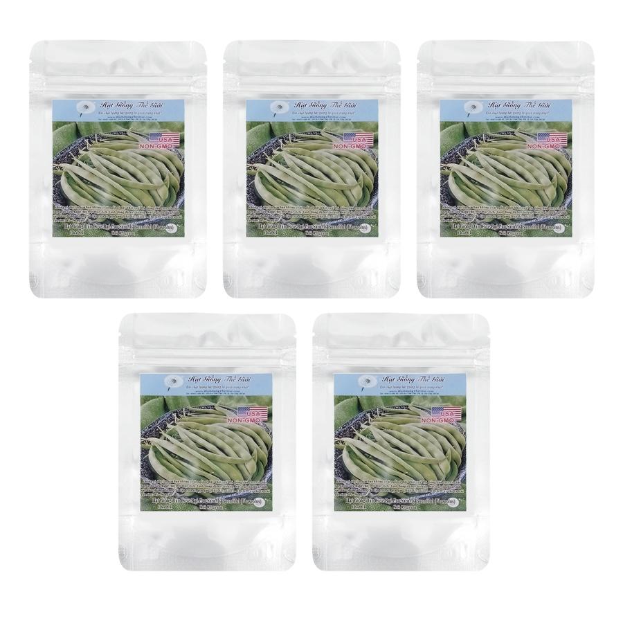Bộ 5 túi Hạt Giống Đậu Cove - Bụi Cao Sản Mỹ Bountiful (Phaseolus vulgaris) (5g / túi)