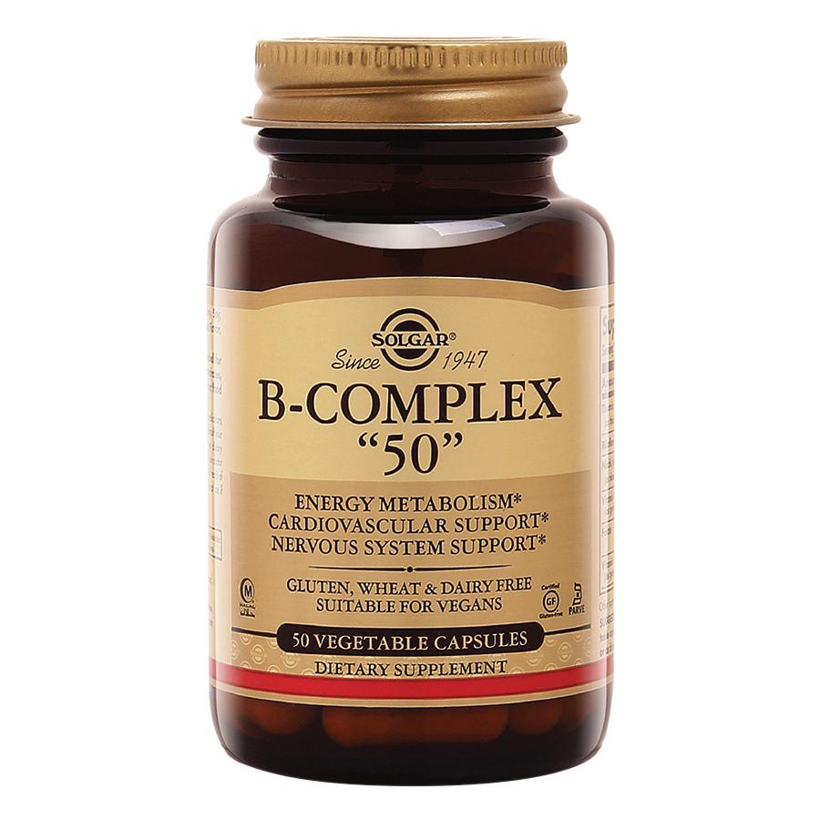 Thực Phẩm Bảo Vệ Sức Khỏe Solgar B - Complex 50 (50 Viên Nang Thực Vật)