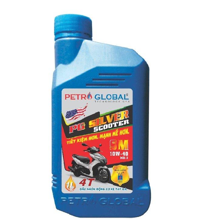 Dầu nhờn xe tay ga cao cấp Petro Global (PG Sliver Scooter SM 1 Lít)