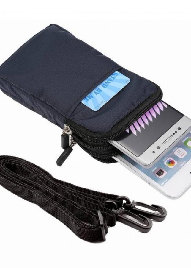 Túi đựng pin dự phòng, phụ kiện công nghệ 3 ngăn tiện dụng AV024 (Vải dù chống thấm, có móc khoá lưng hoặc đeo...