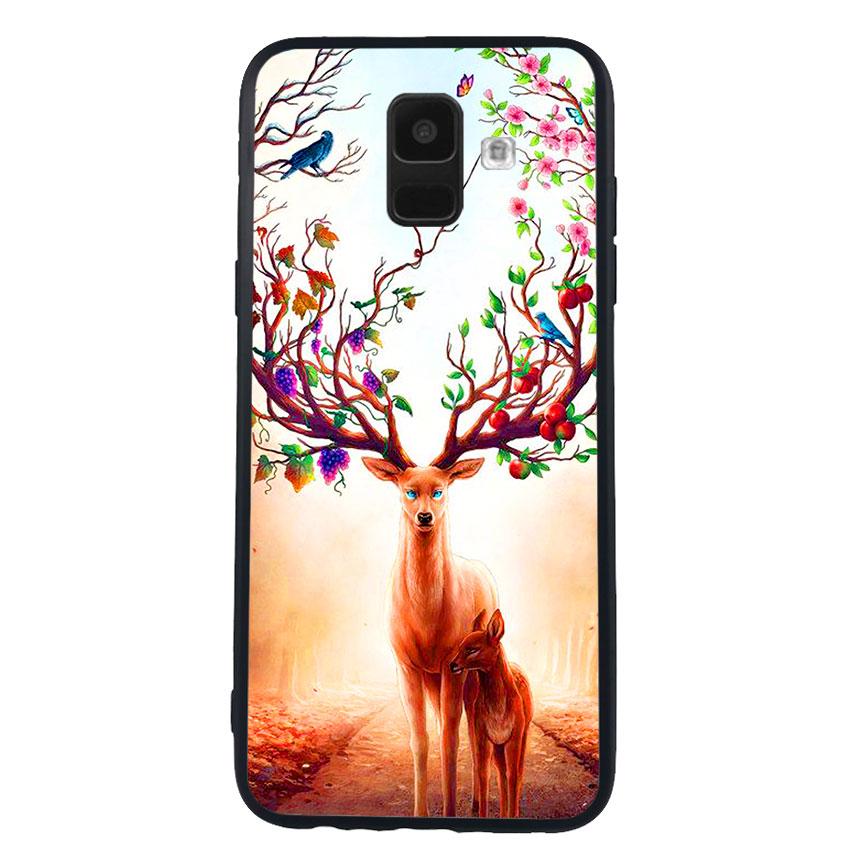 Ốp Lưng Viền TPU cho điện thoại Samsung Galaxy A6 -Deer 01