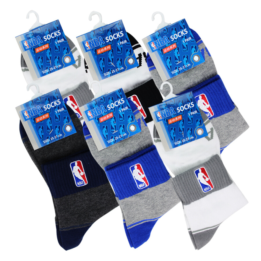 Bộ 5 Đôi Tấ́t Nam Thoáng Khí NBA