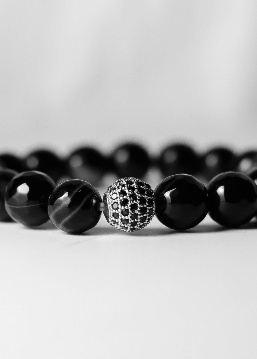 Đá Mã Não Vân Đen Tự Nhiên 10mm Mix Charm Sang Trọng MM Jewelry