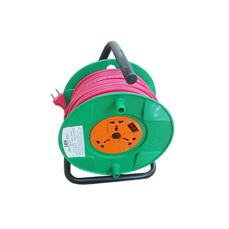 Ổ cắm kéo dài quay tay Rulo phổ thông QT50-2-15A LiOA