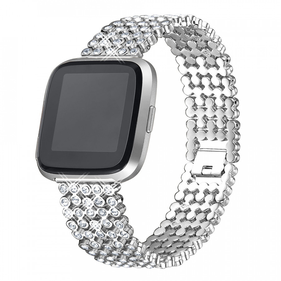 SDXHJ016 Watch Bracelet Fitbit Strap Classic Link Bracelet Replacement Wristband for Fitbit Versa with Rhinestones - 9864701 , 8954367262552 , 62_19337604 , 381000 , SDXHJ016-Watch-Bracelet-Fitbit-Strap-Classic-Link-Bracelet-Replacement-Wristband-for-Fitbit-Versa-with-Rhinestones-62_19337604 , tiki.vn , SDXHJ016 Watch Bracelet Fitbit Strap Classic Link Bracelet Rep
