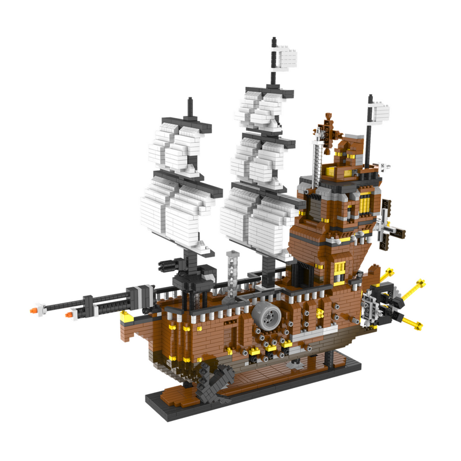 Bộ lắp ráp Thuyền chiến cổ Lele Brother (6710)