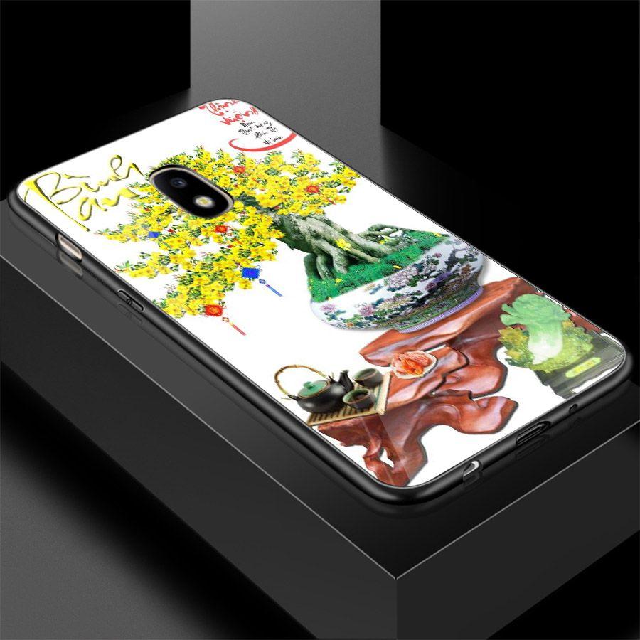 Ốp điện thoại kính cường lực cho máy Samsung Galaxy J2 - Tranh Mai Đào MS MDAO001 - Hàng Chính Hãng