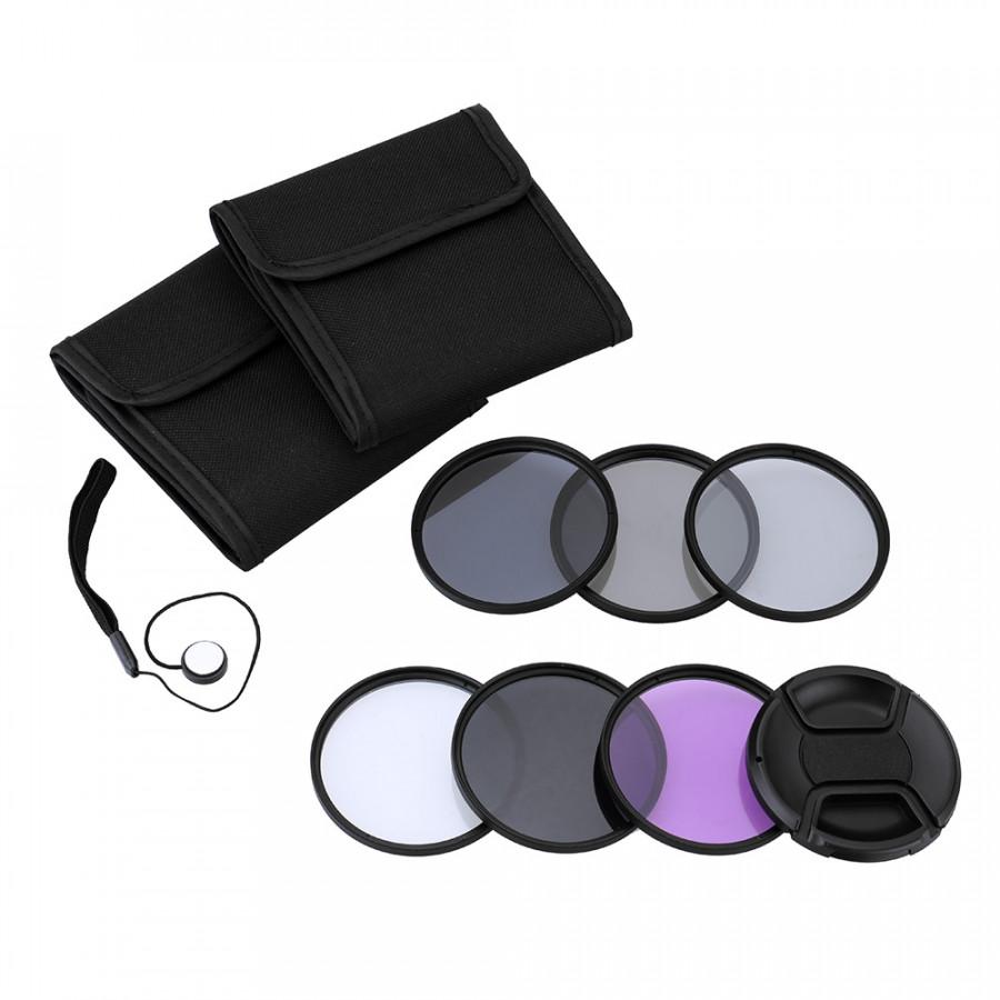 Bộ Kit 5 Kính Lọc 55mm Andoer UV+CPL+FLD+ND (ND2 ND4 ND8)