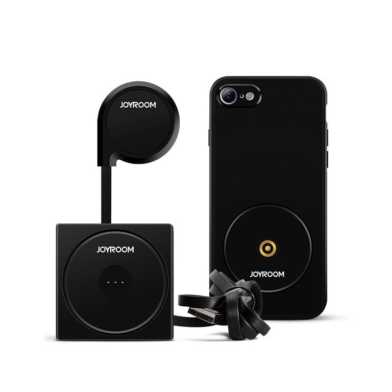 Bộ sạc không dây kiêm ốp lưng + giá đỡ nam châm điện thoại trên ô tô dành cho iPhone 6 ZS141 Joyroom - Hàng chính hãng