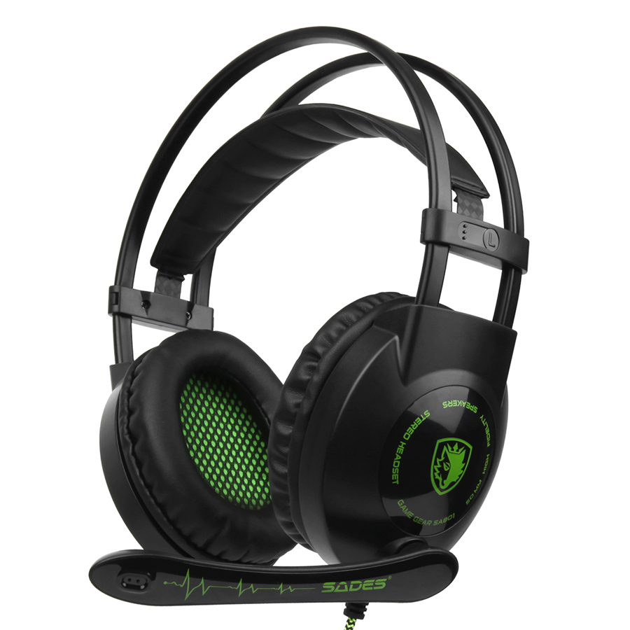 Sades Sa801 3.5mm Gaming Headsets With Microphone Over Ear Music Headphones Volume Control BlackGreen For Ps4 New Xbox - 1852263 , 4430534532382 , 62_14245442 , 594000 , Sades-Sa801-3.5mm-Gaming-Headsets-With-Microphone-Over-Ear-Music-Headphones-Volume-Control-BlackGreen-For-Ps4-New-Xbox-62_14245442 , tiki.vn , Sades Sa801 3.5mm Gaming Headsets With Microphone Over Ear