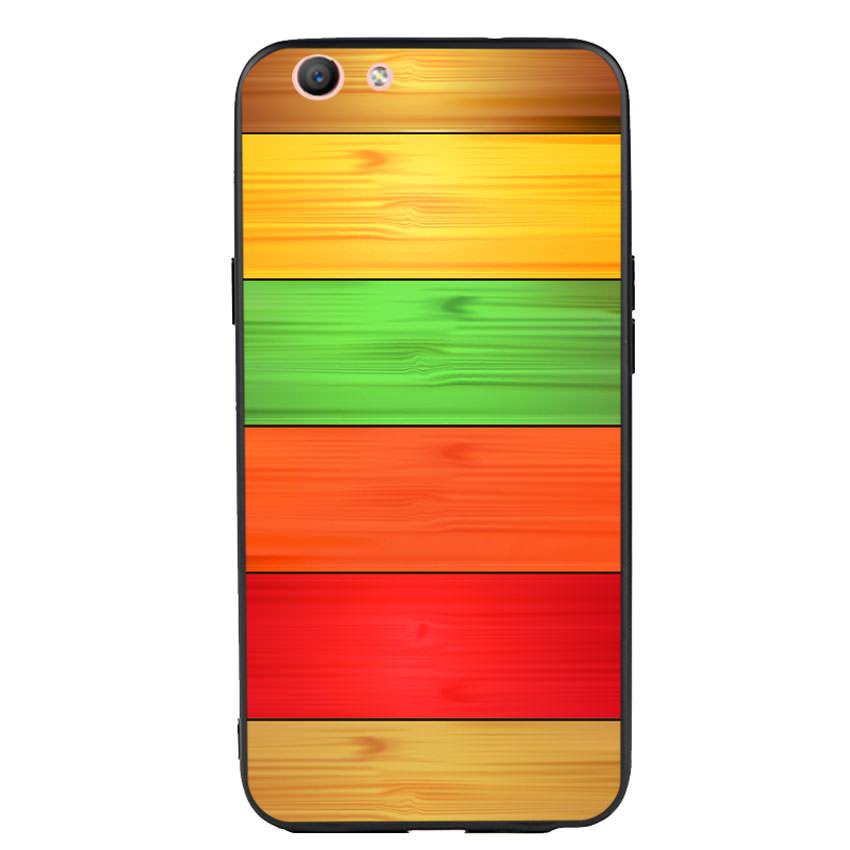 Ốp lưng nhựa cứng viền dẻo TPU cho điện thoại Oppo F1S - Sắc Màu