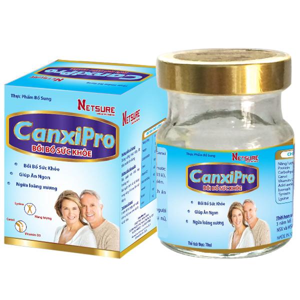 Combo 6 lọ Yến cao cấp Canxipro bồi bổ sức khỏe Netsure (12% yến, 70ml/lọ)