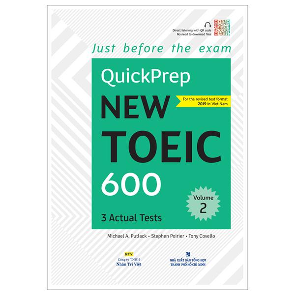 Quickprep New Toeic 600 Volume 2 (Kèm 1 Đĩa Mp3) - 1567078 , 2230577448129 , 62_10202460 , 198000 , Quickprep-New-Toeic-600-Volume-2-Kem-1-Dia-Mp3-62_10202460 , tiki.vn , Quickprep New Toeic 600 Volume 2 (Kèm 1 Đĩa Mp3)