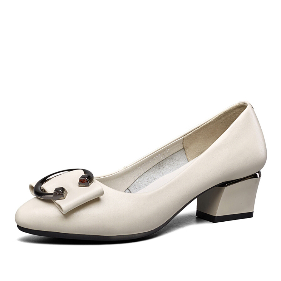 Yierkang Ms. thick and pointed fashion, wild work, commuting, with shallow mouth shoes, 8551DE26949W, white 35 - 1609459 , 9729979201584 , 62_9090285 , 884000 , Yierkang-Ms.-thick-and-pointed-fashion-wild-work-commuting-with-shallow-mouth-shoes-8551DE26949W-white-35-62_9090285 , tiki.vn , Yierkang Ms. thick and pointed fashion, wild work, commuting, with shallo