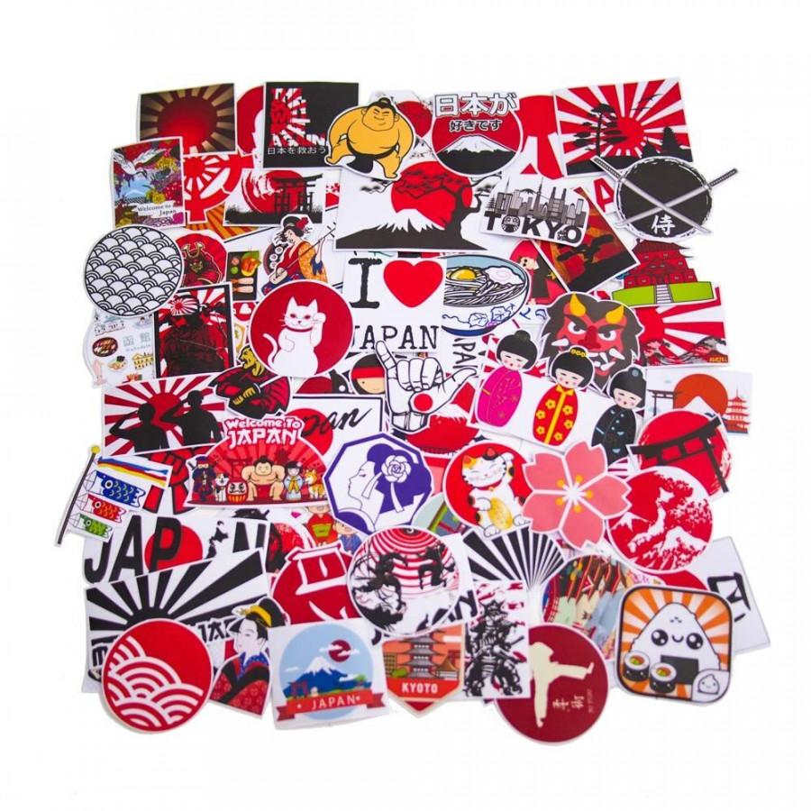 Set 100 Sticker hình dán - Nhật Bản Japan