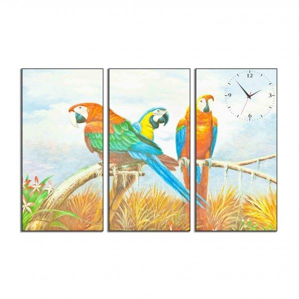 Tranh đồng hồ in Canvas Những chú vẹt Macaw - 3 mảnh - 7073187 , 7224920689340 , 62_10353239 , 642500 , Tranh-dong-ho-in-Canvas-Nhung-chu-vet-Macaw-3-manh-62_10353239 , tiki.vn , Tranh đồng hồ in Canvas Những chú vẹt Macaw - 3 mảnh