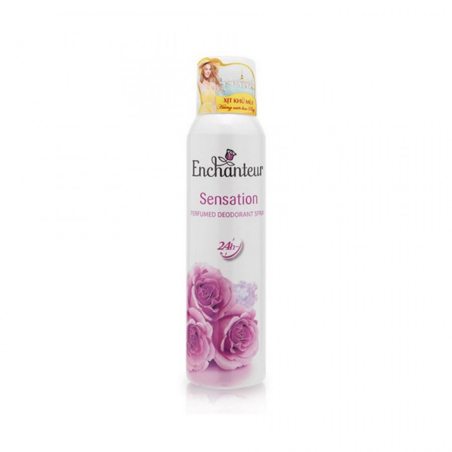 Xịt khử mùi nước hoa Enchanteur Sensation gợi cảm tinh tế ngăn mồ hôi  mùi cơ thể 150ml - 18481078 , 4170878553055 , 62_15944176 , 92000 , Xit-khu-mui-nuoc-hoa-Enchanteur-Sensation-goi-cam-tinh-te-ngan-mo-hoi-mui-co-the-150ml-62_15944176 , tiki.vn , Xịt khử mùi nước hoa Enchanteur Sensation gợi cảm tinh tế ngăn mồ hôi  mùi cơ thể 150ml
