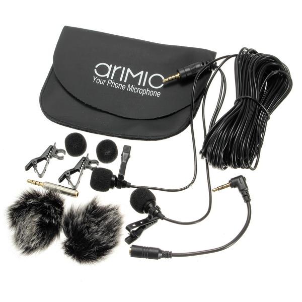 Micro cài áo cho điện thoại và máy ảnh AriMic Lavalier AZONE
