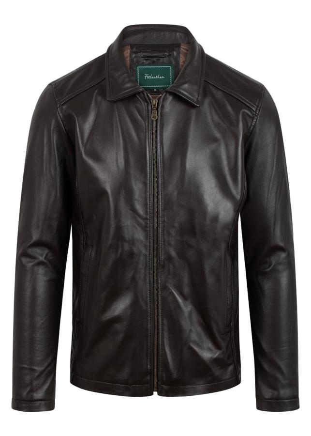 Áo Da Cừu FTT LEATHER Classic Collar Jacket Cổ Bẻ Cổ Điển 101345CH2018 U5