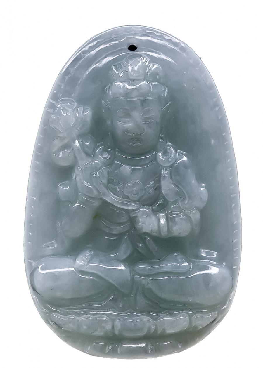Mặt Phật Bản Mệnh Đại Thế Chí Bồ Tát Thạch Anh Xanh