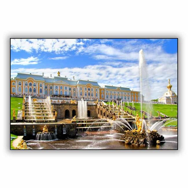 Tranh Trang Trí Đài Phun Nước Petergof (40 x 60 cm)