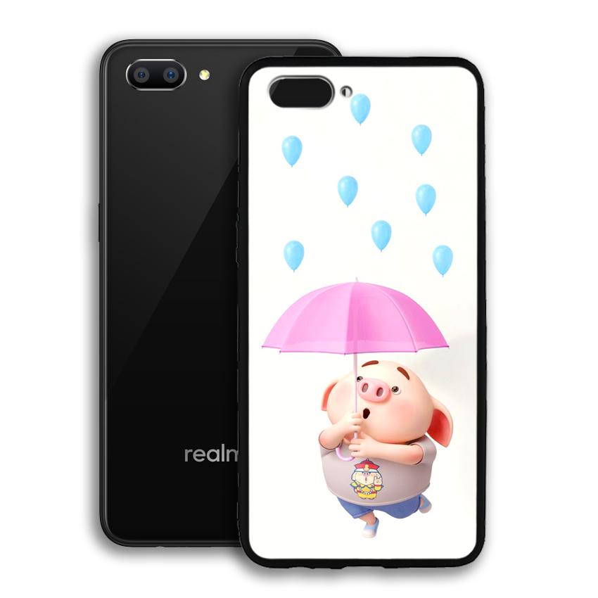 Ốp lưng viền TPU cho điện thoại Realme C1 - 02093 0523 PIG26 - Hàng Chính Hãng