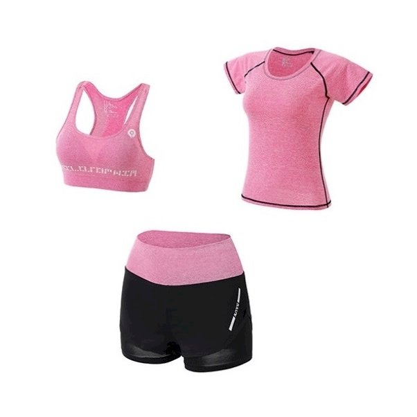 Bộ quần áo thể thao nữ tập Gym Yoga 3in1 (Gồm áo phông, áo ngực, quần đùi), chất vải thoáng mát cao cấp - POKI - 896238 , 7539129958907 , 62_4786139 , 600000 , Bo-quan-ao-the-thao-nu-tap-Gym-Yoga-3in1-Gom-ao-phong-ao-nguc-quan-dui-chat-vai-thoang-mat-cao-cap-POKI-62_4786139 , tiki.vn , Bộ quần áo thể thao nữ tập Gym Yoga 3in1 (Gồm áo phông, áo ngực, quần đùi),