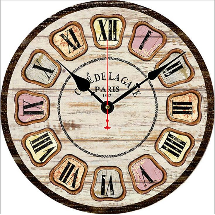 Đồng hồ treo tường Vintage Phong cách Châu Âu size to 30cm DH35