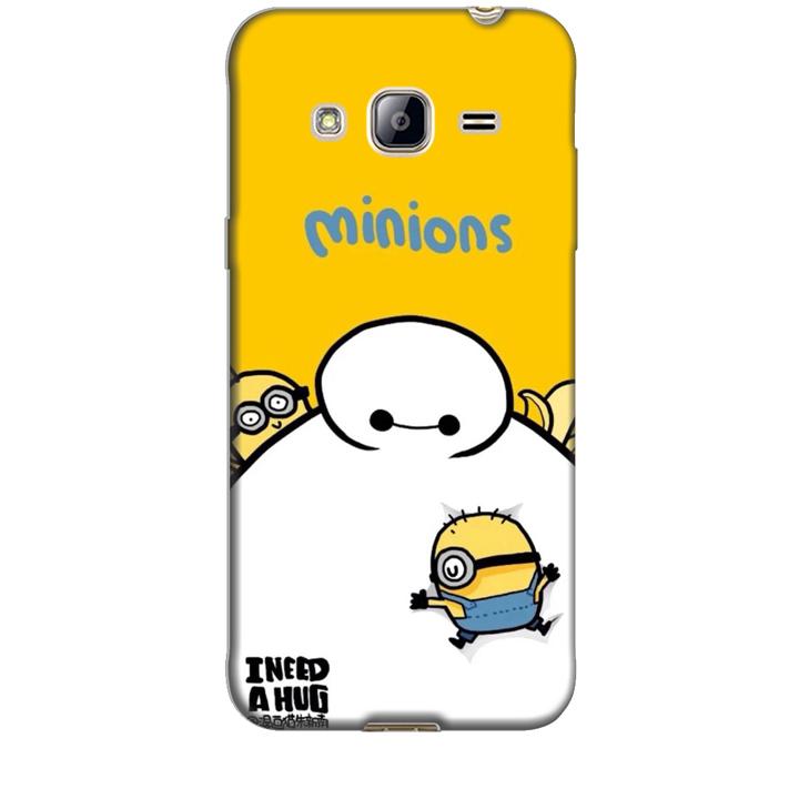 Ốp lưng dành cho điện thoại  SAMSUNG GALAXY J3 hinh Big Hero Minions