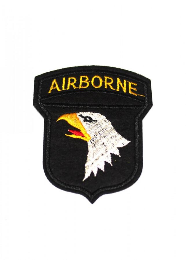 Patch ủi sticker vải - AIRBORNE đại bàng trắng