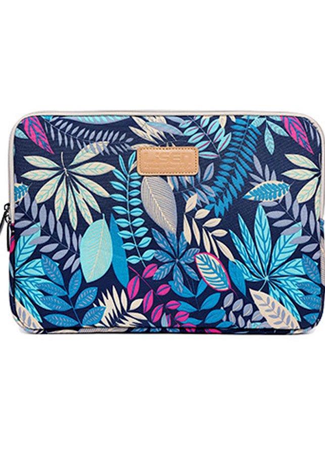 Túi chống sốc Macbook 13 inch họa tiết hoa văn (Họa tiết xanh dương)