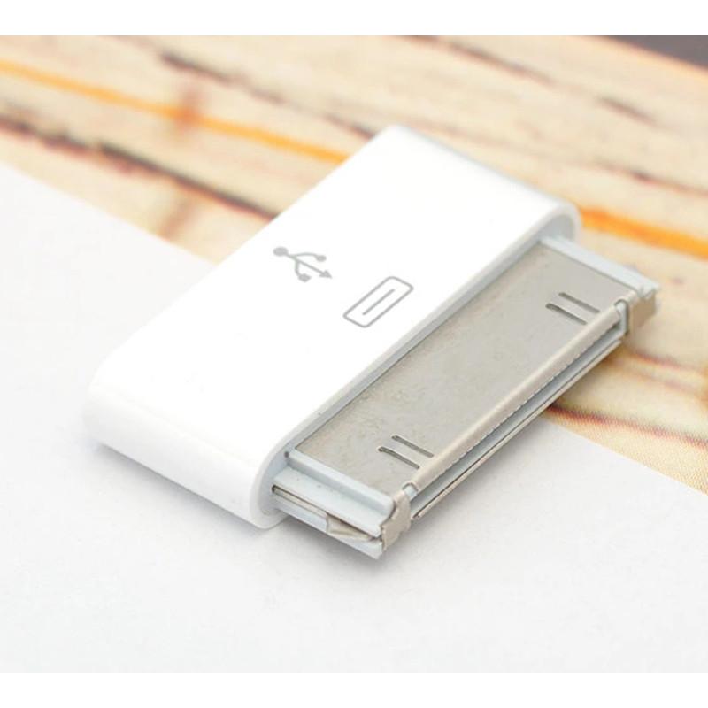 Đầu chuyển chân sạc Microusb to Lightning 30pin iPhone 4,4s,iPad1,2,3 - Hàng Nhập Khẩu