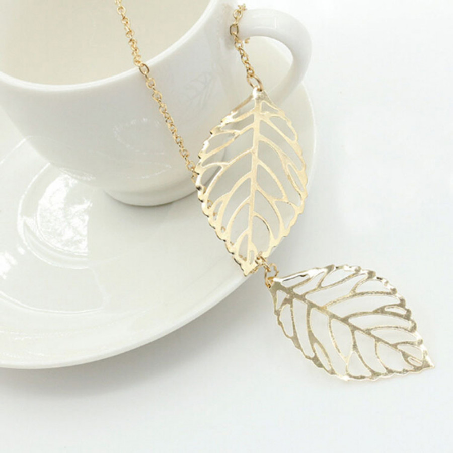 Pendant Necklace Clavicle Chain Elegant Gifts Hanging Gold Silver Leaf Jewelry Beauty Lady Accessories - 1926553 , 5447085162158 , 62_12310954 , 214000 , Pendant-Necklace-Clavicle-Chain-Elegant-Gifts-Hanging-Gold-Silver-Leaf-Jewelry-Beauty-Lady-Accessories-62_12310954 , tiki.vn , Pendant Necklace Clavicle Chain Elegant Gifts Hanging Gold Silver Leaf Jew
