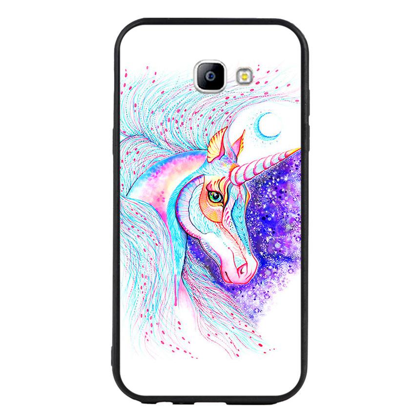 Ốp lưng nhựa cứng viền dẻo TPU cho điện thoại Samsung Galaxy A7 2017 - Horse 01