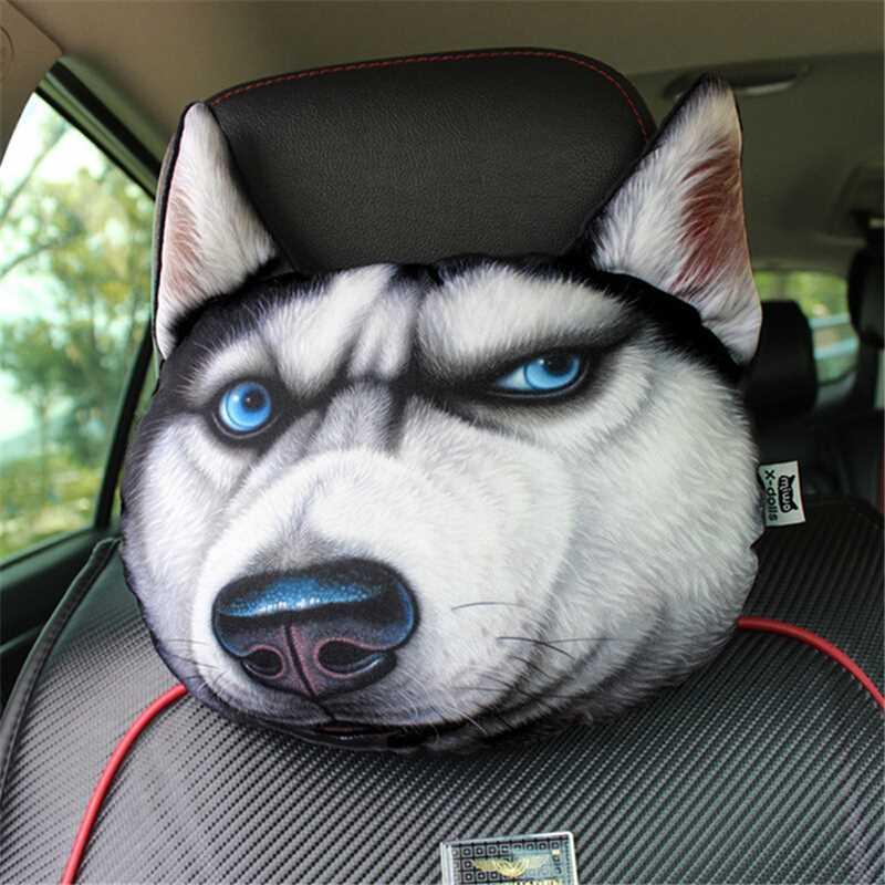 Gối tựa ô tô hình con thú in 3D
