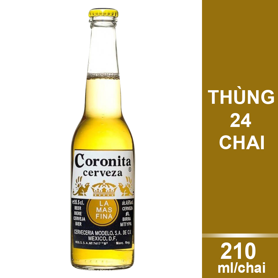Thùng 24 Chai Bia Coronita (210ml / Chai) - 9448139 , 3495676066967 , 62_15215213 , 580000 , Thung-24-Chai-Bia-Coronita-210ml--Chai-62_15215213 , tiki.vn , Thùng 24 Chai Bia Coronita (210ml / Chai)