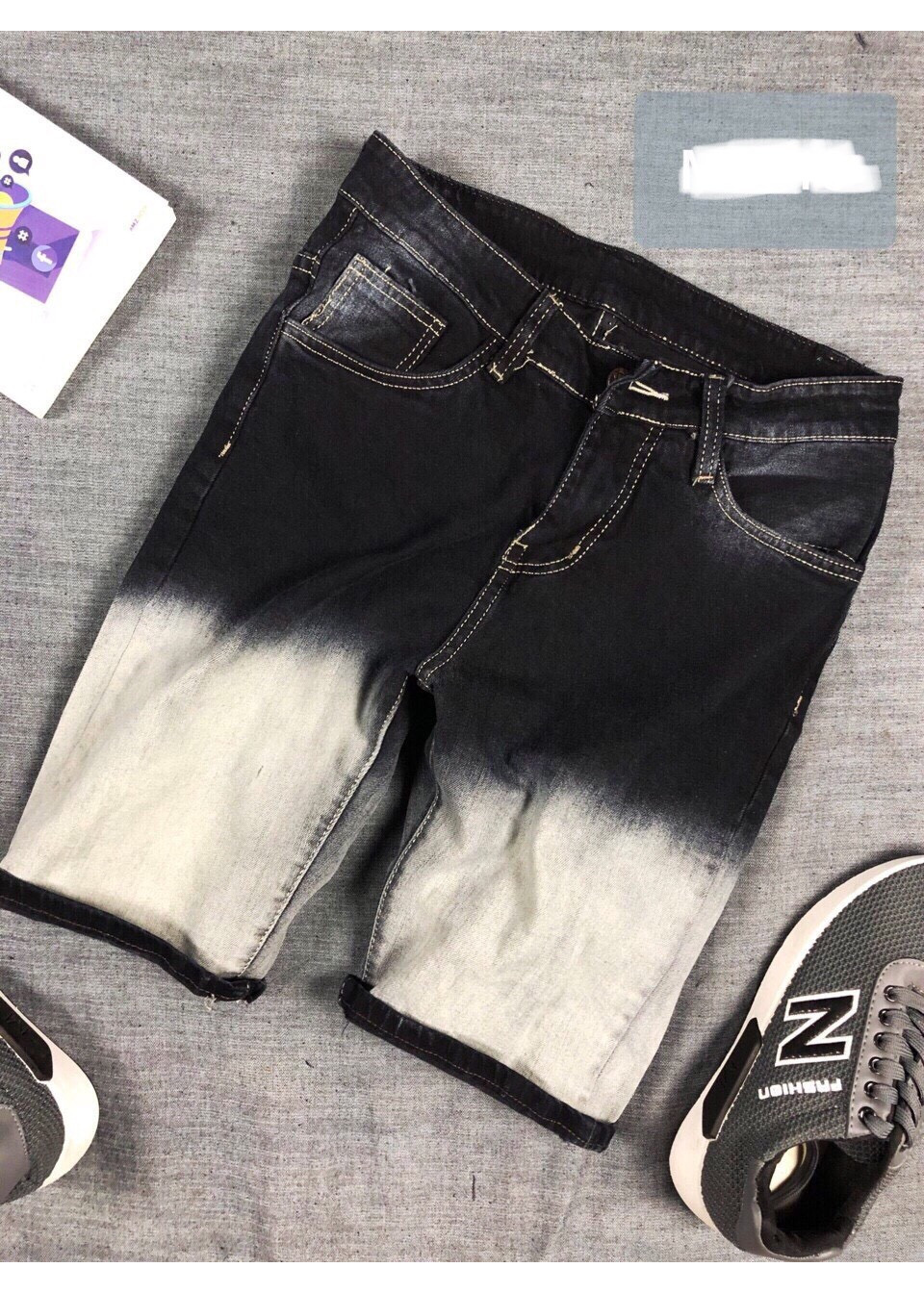 Quần jeans short nam